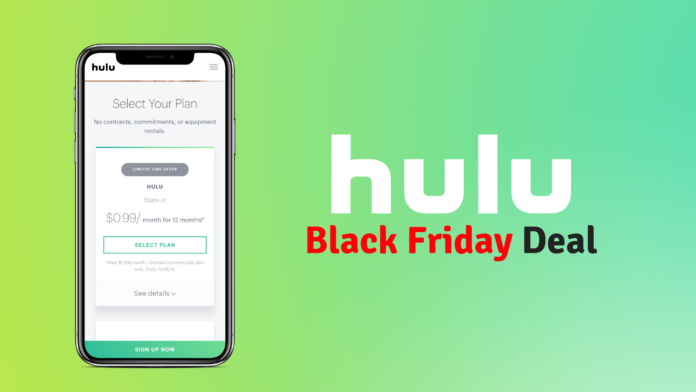 Black Friday Hulu Cuts a Deal You Can't Refuse