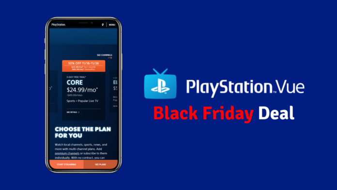 Black Friday PlayStation Vue Cuts Core Price in Half