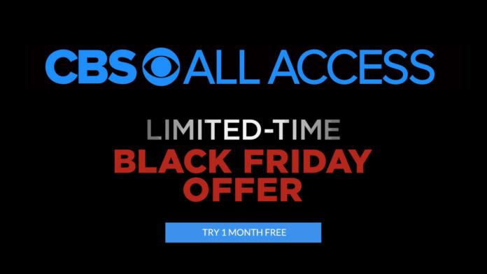 CBS All Access Black Friday Offer