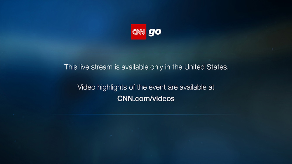 CNN GO Block Outside the US
