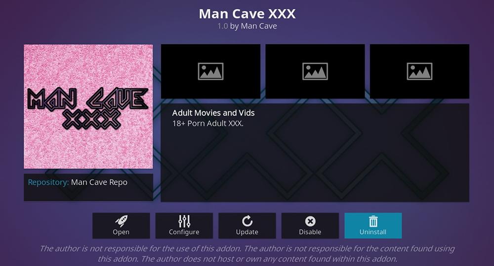 ManCave XXX Kodi Addon