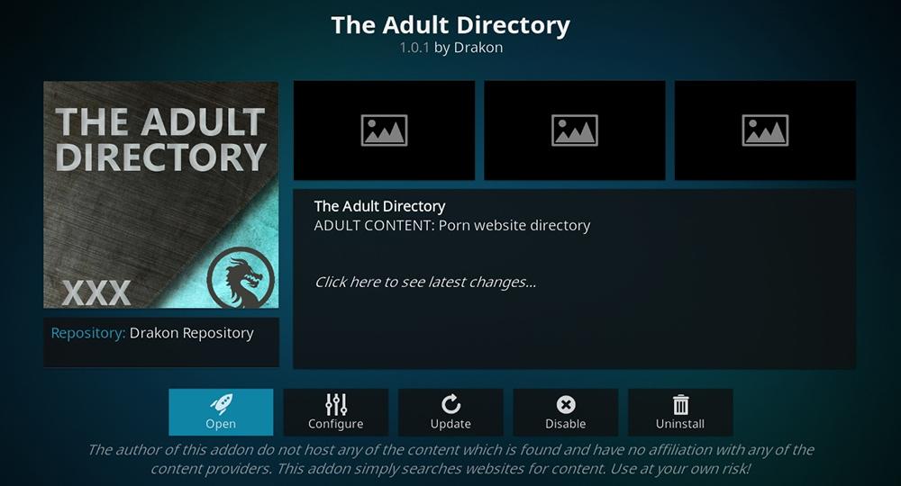 The Adult Directory Kodi Addon