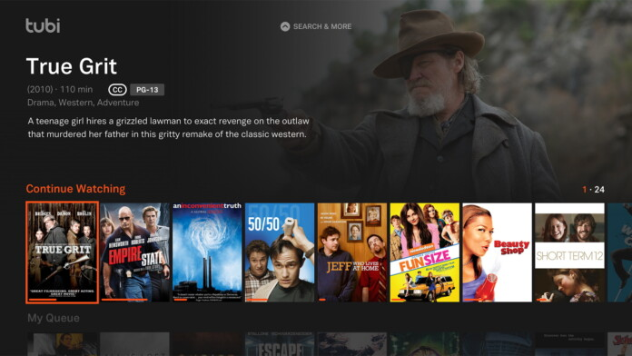 Tubi TV Amazon Firestick UI