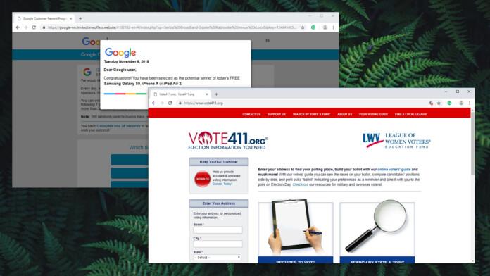Vote411 Online Scam