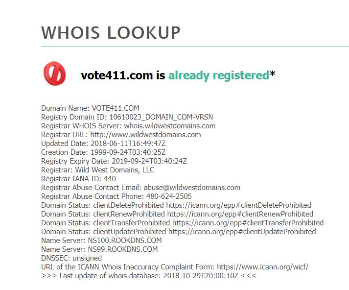 vote411.com whois