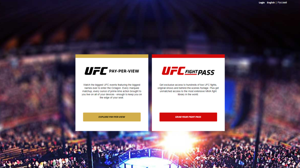 UFC PPV and Fight Pass