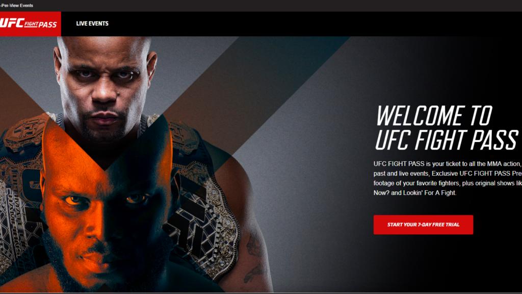 Sign Up UFC Fight Pass