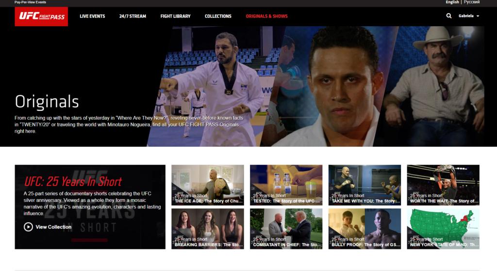 UFC League Pass watch content