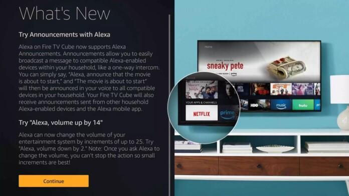 Amazon Fire TV Cubes Receive Alexa Announcement Functionality