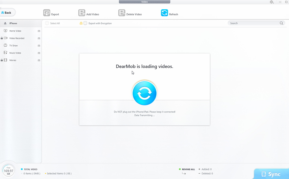 DearMob iPhone Manager - Video Transfer
