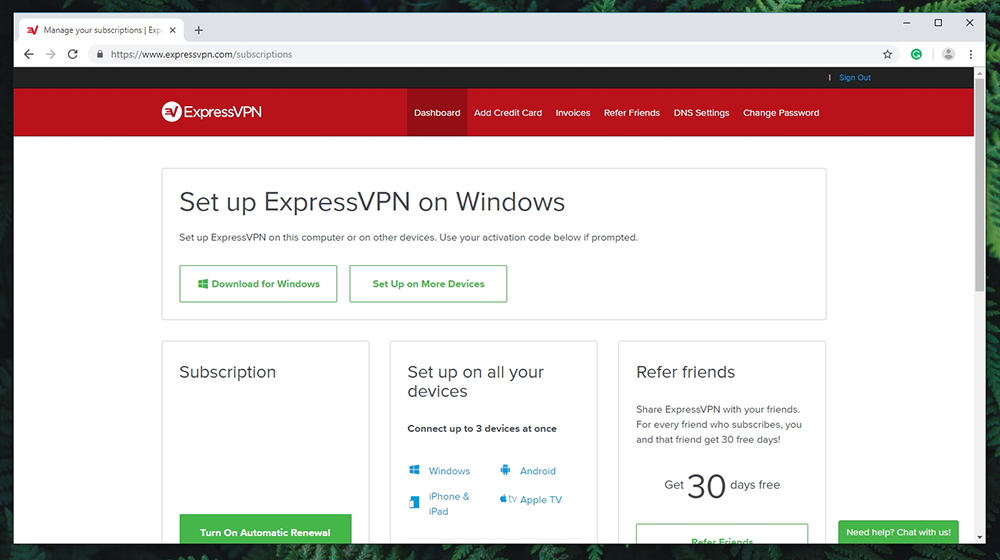 ExpressVPN - Account Access