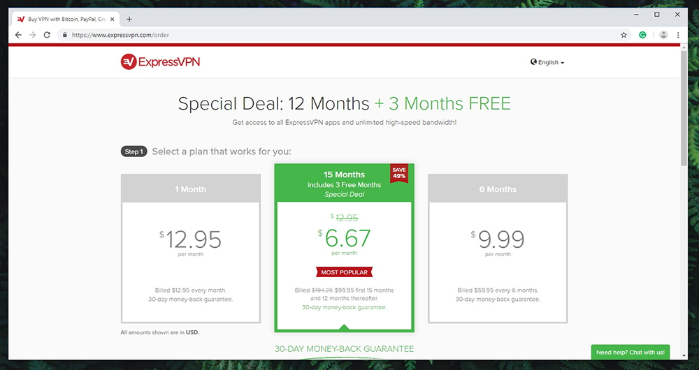 ExpressVPN - Pricing