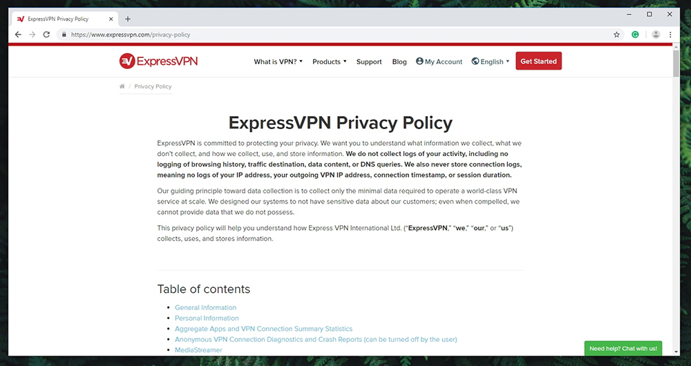 ExpressVPN - Privacy Policy