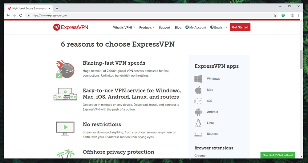 ExpressVPN - Prominent Features
