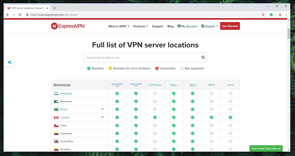 ExpressVPN - Server Locations