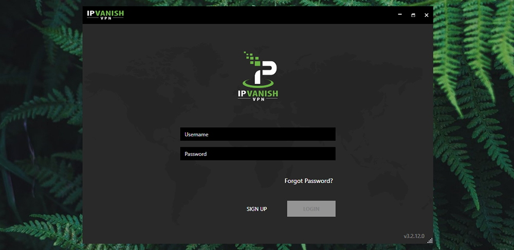 IPVanish Review - Log-In Screen