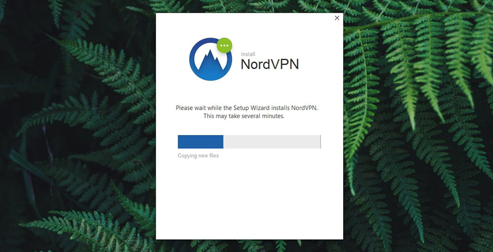 NordVPN Review - Installation in Progress