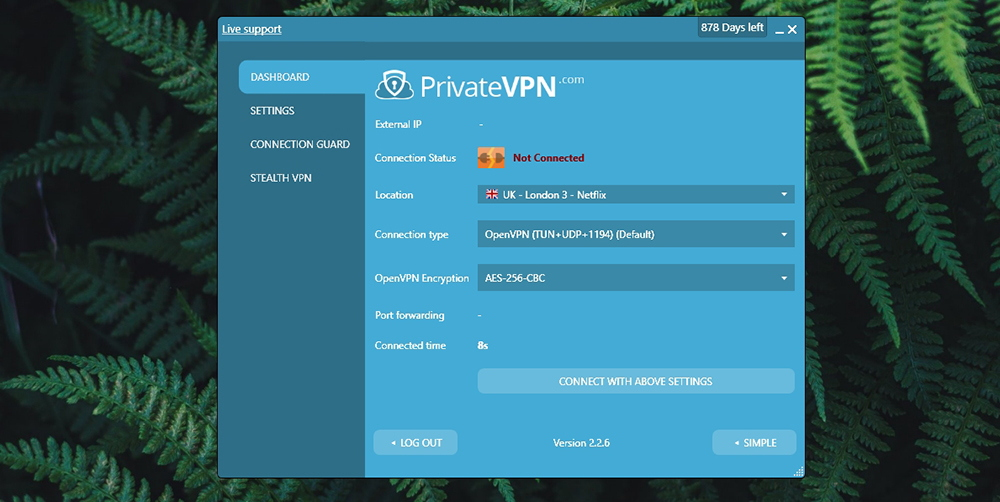 PrivateVPN Review - Advanced Mode