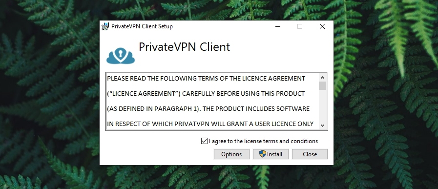 PrivateVPN Review - Installation