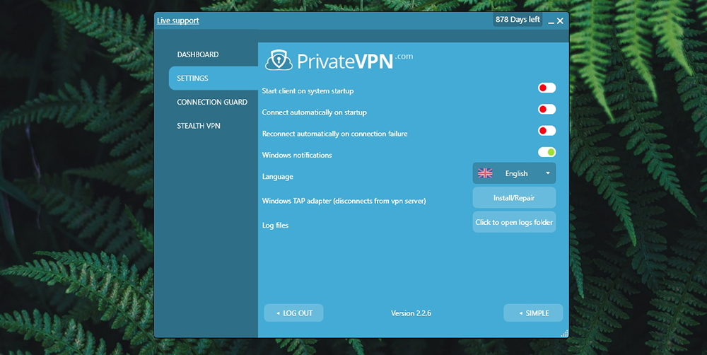 PrivateVPN Review - Settings