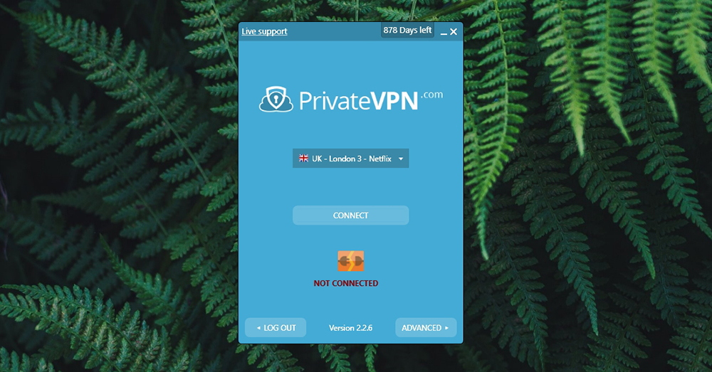 PrivateVPN Review - Simple Mode