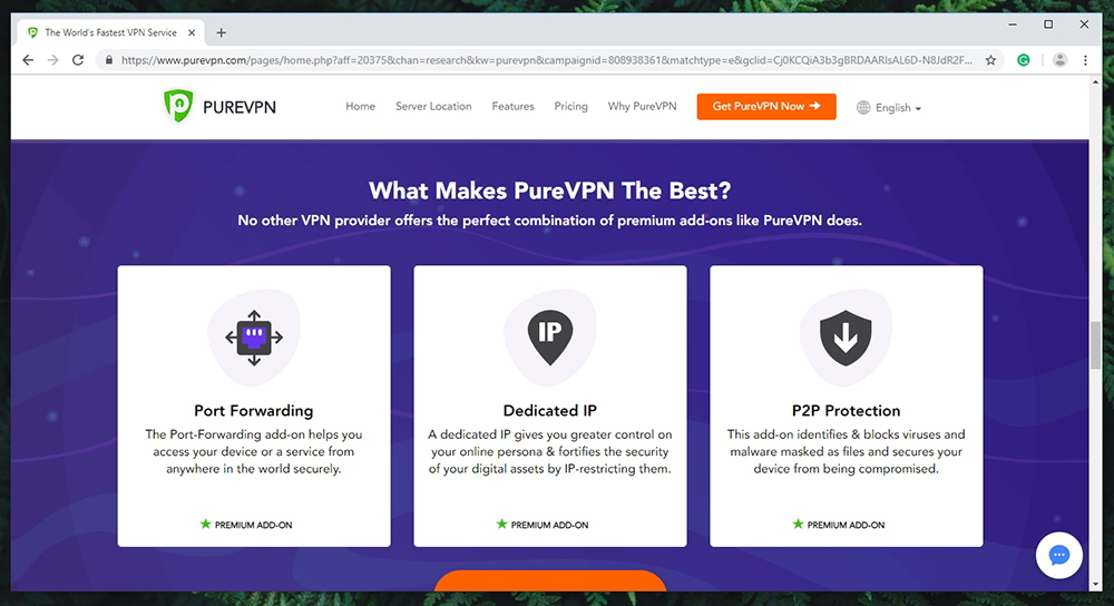 PureVPN Review - Prominent Features
