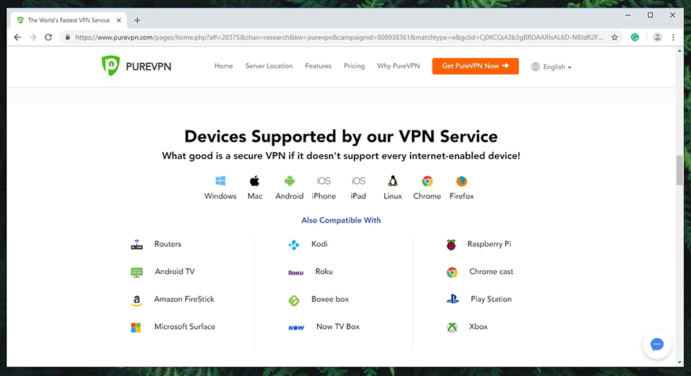 PureVPN Review - Supported Devices