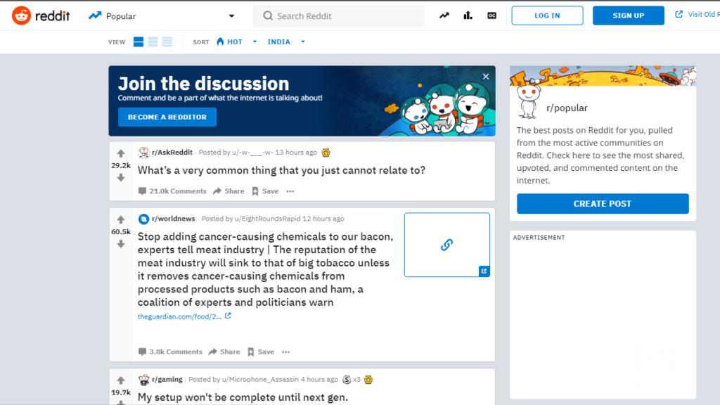 Tumblr Alternatives - Reddit