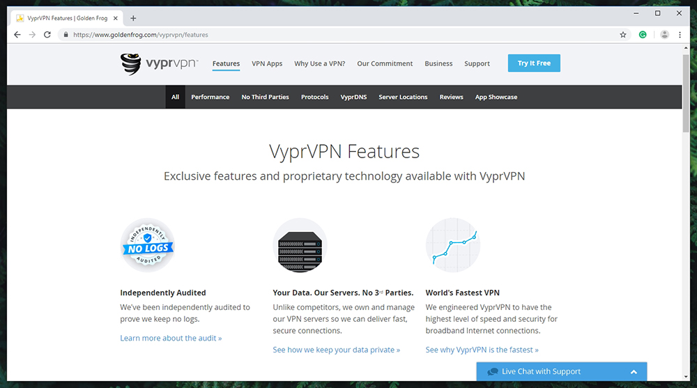 VyprVPN Review - Prominent Features