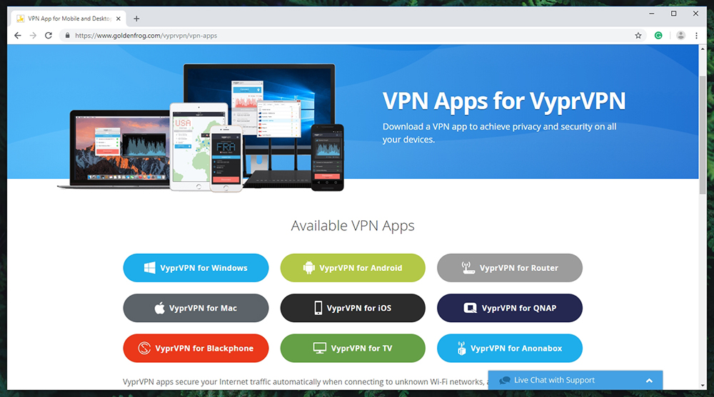VyprVPN Review - Supported Platforms