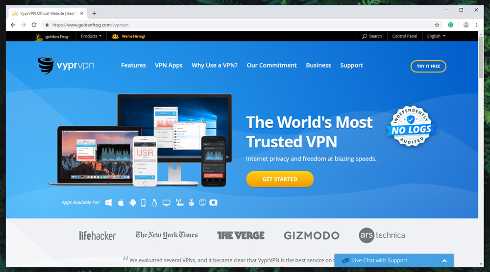 VyprVPN Review - Website