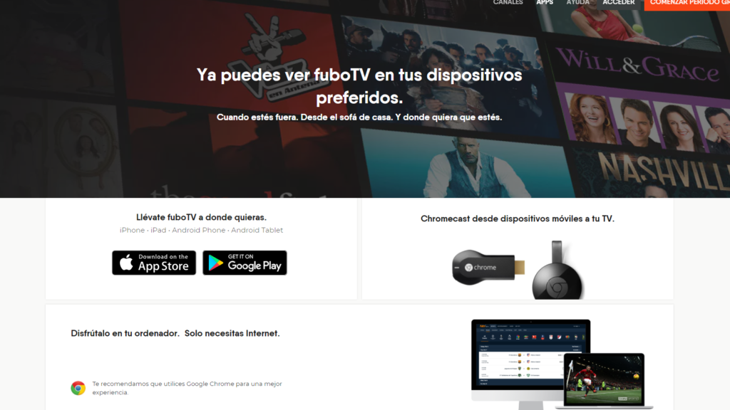 fuboTV Spain apps