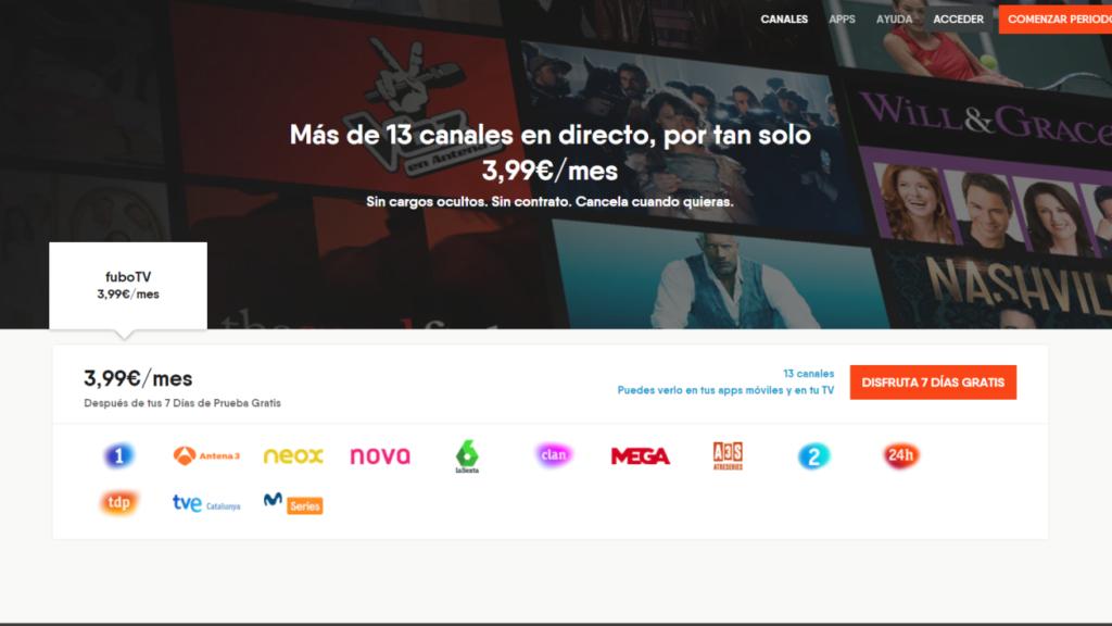 fuboTV Spain Channels