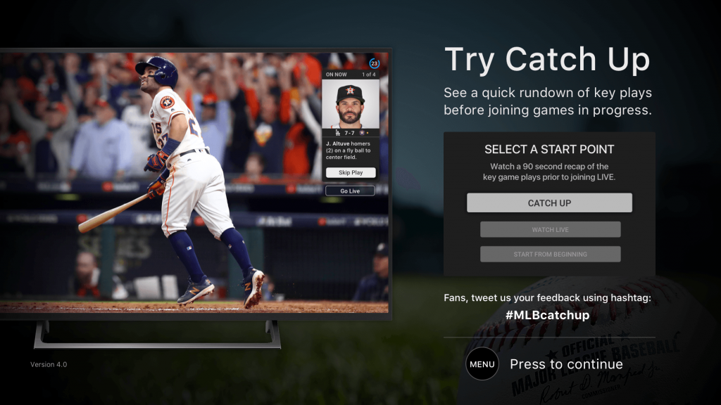 MLB.TV is easy to use