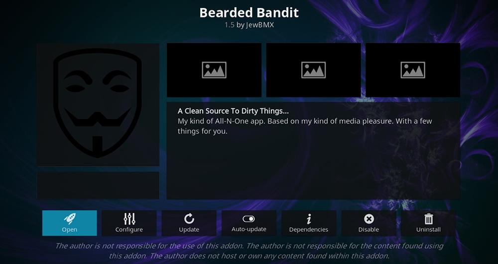 Bearded Bandit Kodi Addon