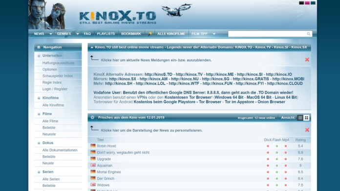 Domains of Pirate Website Kinox Put Up for Sale on eBay