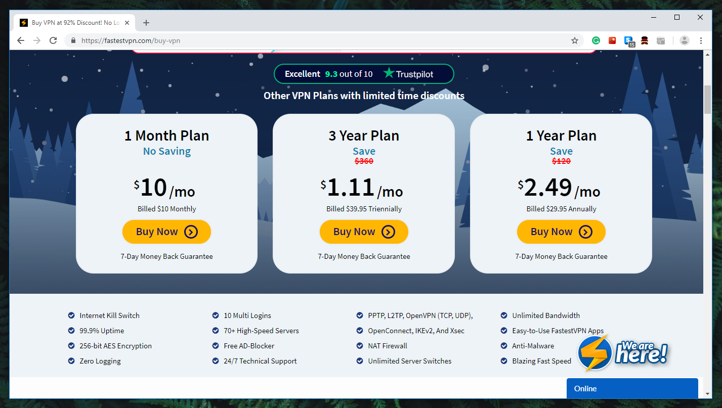 FastestVPN Review - Pricing