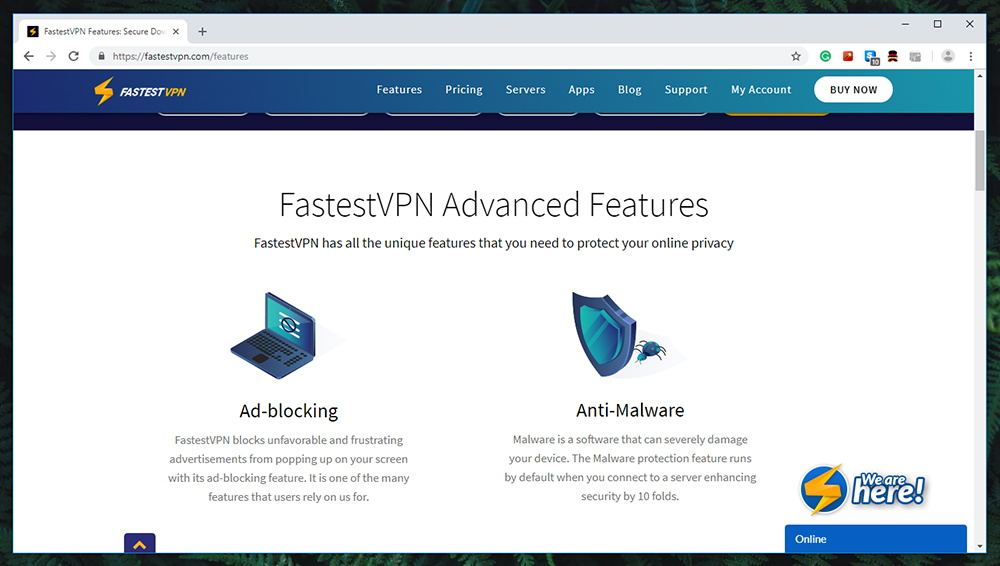 FastestVPN Review - Prominent Features