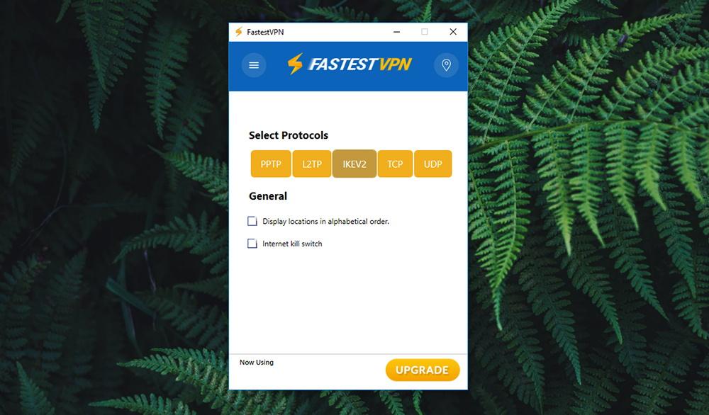 FastestVPN Review - Settings