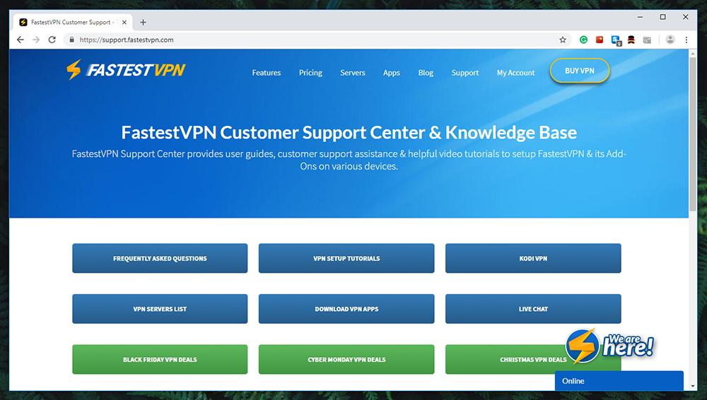 FastestVPN Review - Support