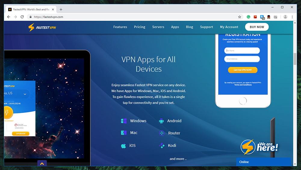 FastestVPN Review - Website