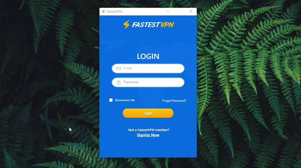 FastestVPN Review - Welcome Screen