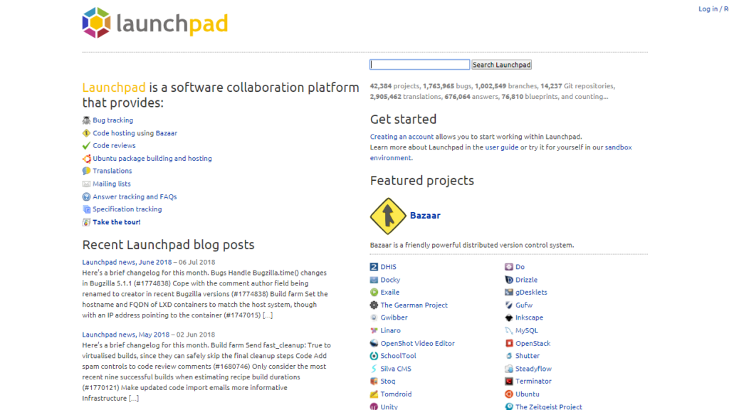 GitHub Alternatives - Launchpad