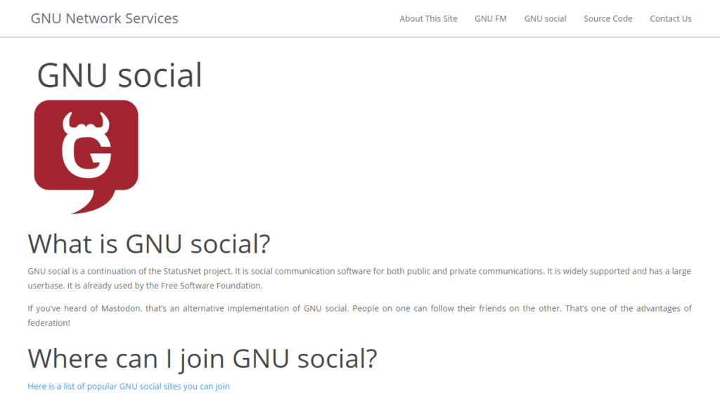 Google Plus Alternatives - GNU Social