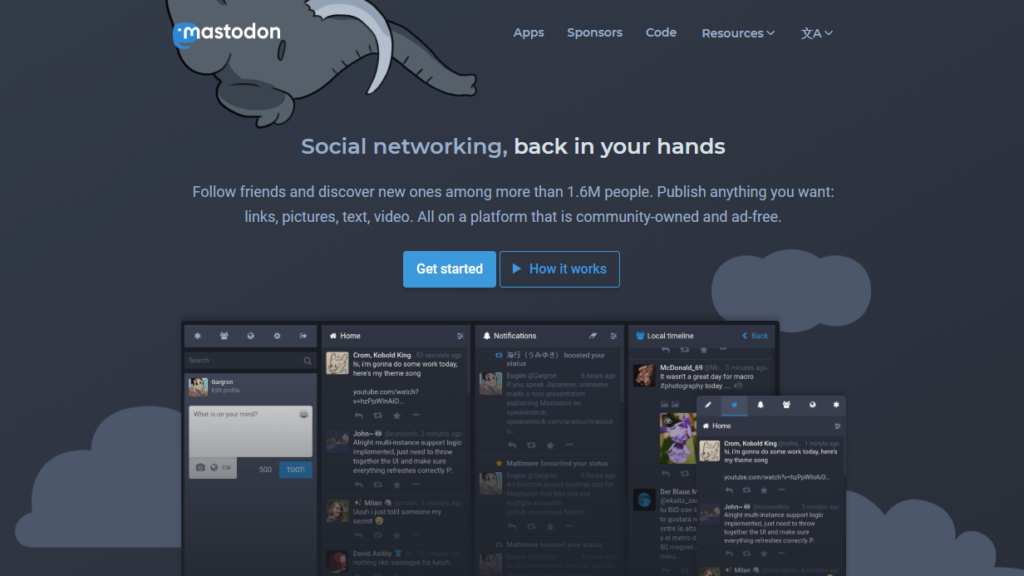 Google Plus Alternatives - Mastodon