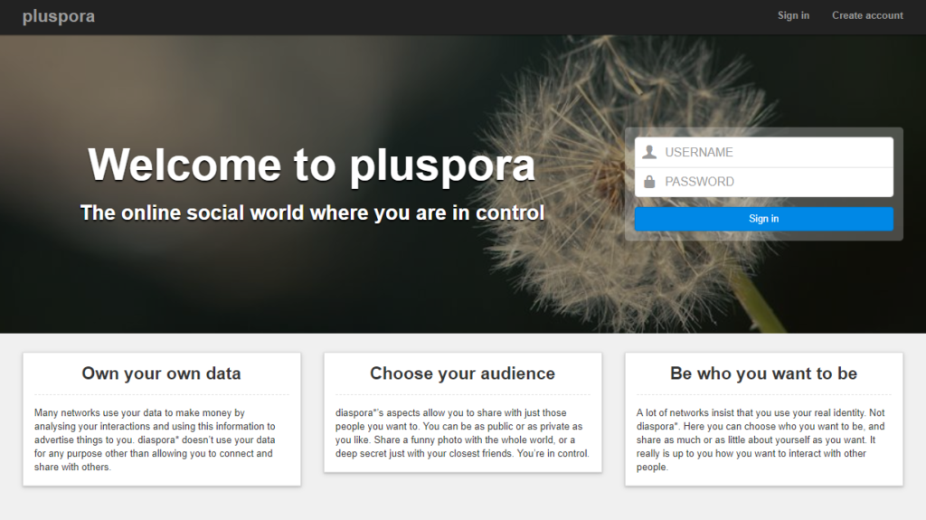Google Plus Alternatives - Pluspora