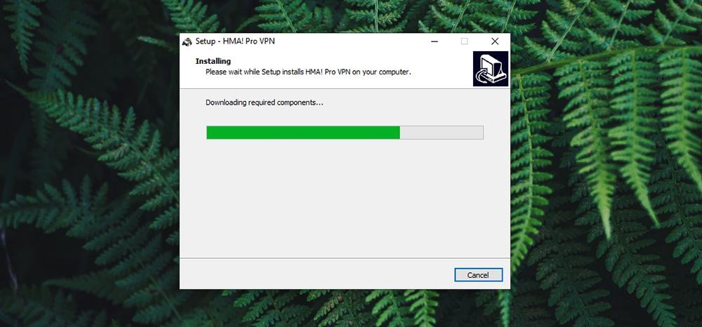 Hide My Ass VPN Review - Installation in Progress