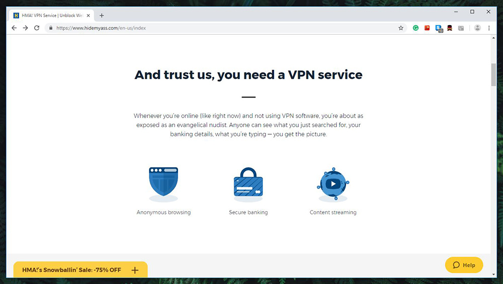 Vpn  Hide My Ass High Performance