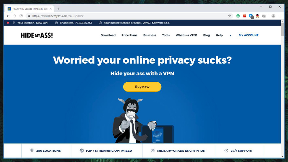Hide My Ass VPN Review - Website