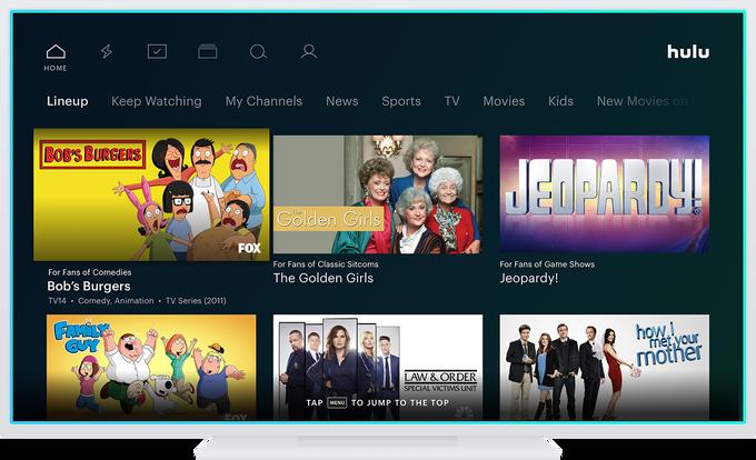 Hulu Lineup Menu